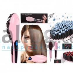 Четка за сушене и изправяне на коса Fast Hair Straightener HQT-906